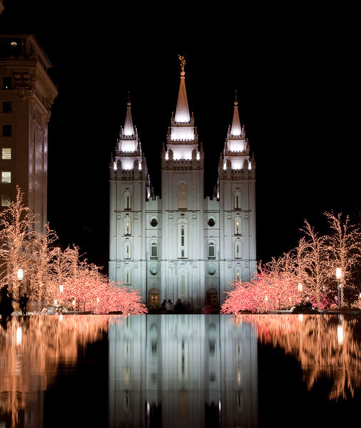 Salt Lake Temple Christmas 2008