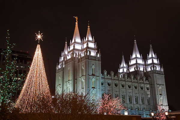 Salt Lake City LDS Temple Christmas 2008