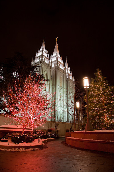 Salt Lake City LDS Temple Christmas 2008