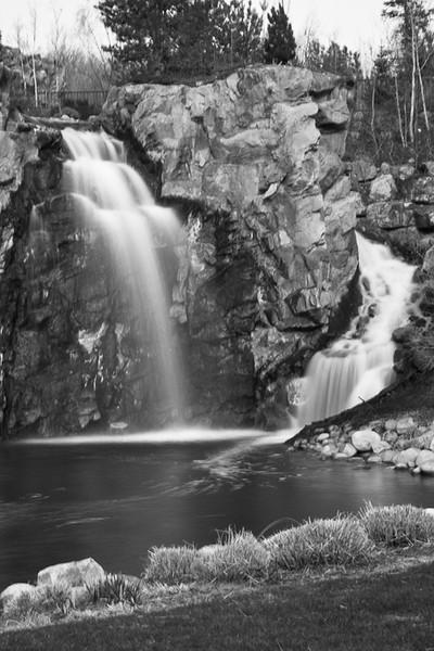 Waterfall blurred B&W