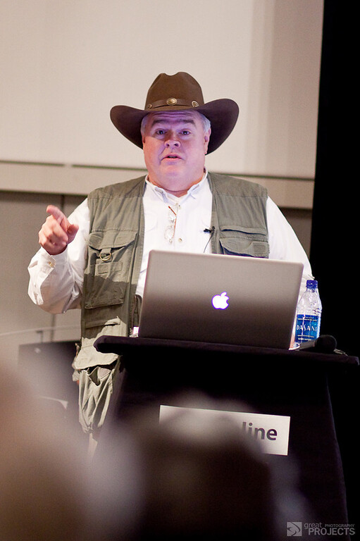 Scott Bourne presenting at Pictureline, Salt Lake City