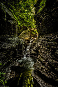 Rainbow Falls at Watkins Glen State Park Gorge