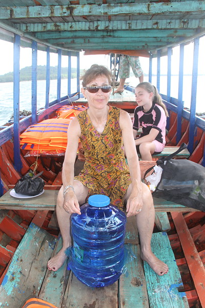 Boat trip to snorkelling island