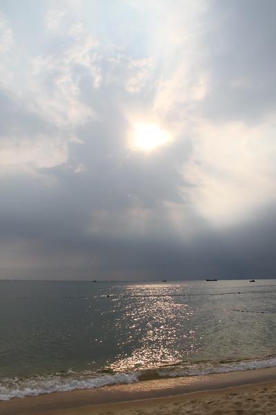 Nearly rainy season so we did get some overcast skies