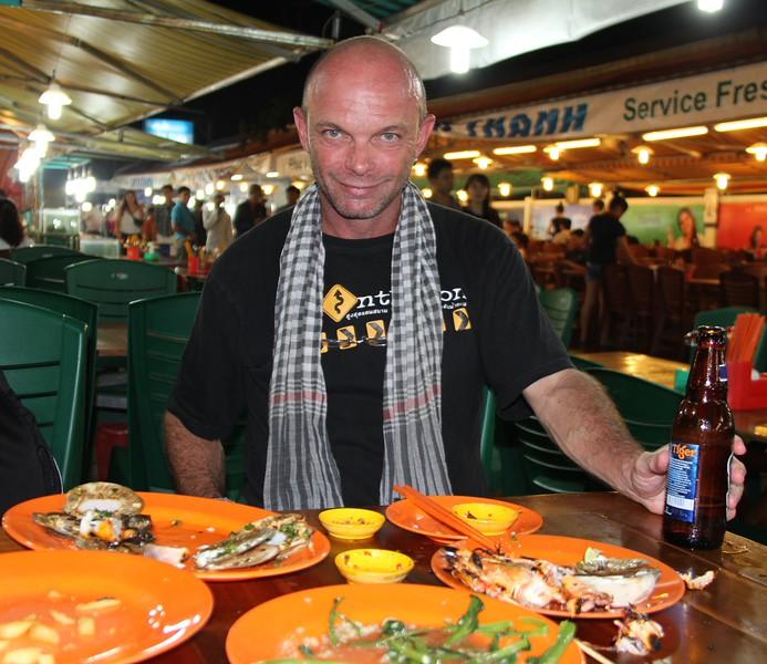 Lobster, scallops, squid and shrimps - demolished