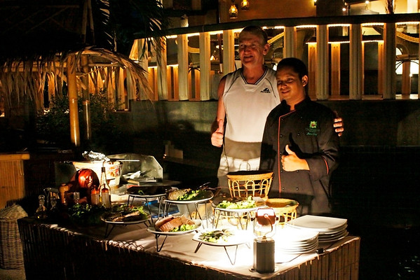 Phuket Mangosteen Resort & Ayurveda Spa Seafood Basket, private BBQ on the pooldeck. If you like really fresh seafood, book our seafood basket one day in advance. Our Chef will go to the market and select the best fresh lobsters, rock lobsters, fish, crabs, shrimps or whatever you prefer. The private BBQ can be arranged on the pooldeck or on the terrace.