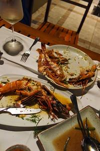 Club Mangosteen Team @ Kan Eang @ Pier, Richard, Ian, John,  Bev, David, Claire and Michael enjoy Thai and Seafood!