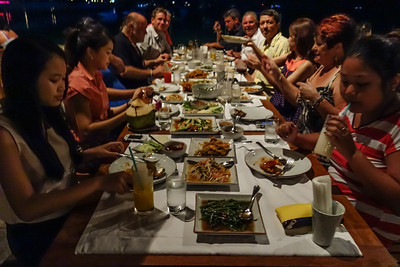 Club Mangosteen Team @ Kan Eang @ Pier, Richard, Ian, John,  Bev, David, Claire and Michael enjoy Thai and Seafood!
