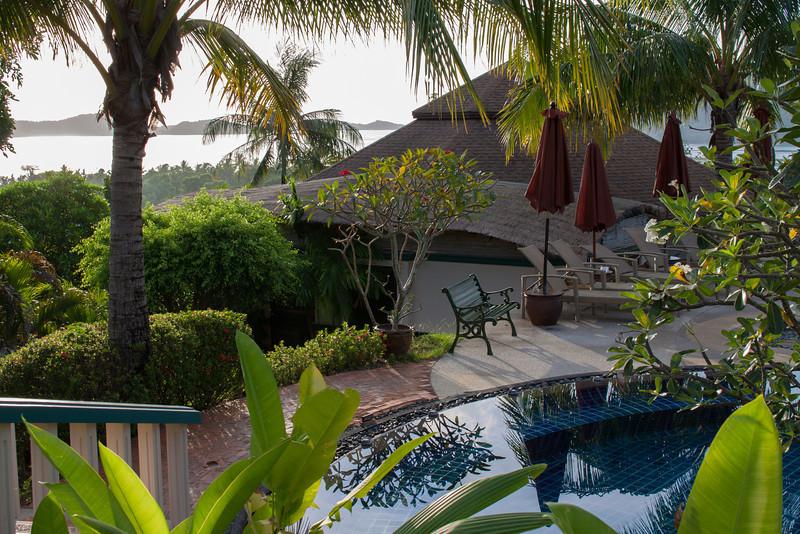 Morning Views at Mangosteen Resort & Ayurveda Spa, Phuket - The view to Cape Panwa and Chalong Bay!