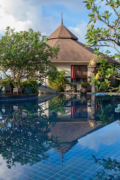 Morning Views at Mangosteen Resort & Ayurveda Spa, Phuket - Calm water early morning at the resort. This is a typical day during rainy season in Phuket... :)