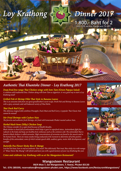 2017.11. - Loy Krathong Dinner