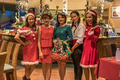 Christmas Dinner 2018 at Mangosteen Ayurveda & Wellness Resort, Rawai, Phuket.