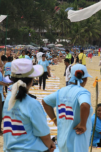 Mass Massage at Kata Beach Phuket for Guiness Book of World Records, 19.08.2011, about 600 massage girls tried to break the world record. But unfortunatley, there were not many tourists around...