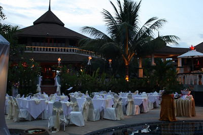 New Year 2009, party at The Mangosteen Resort & Spa, Phuket. Before the storm...