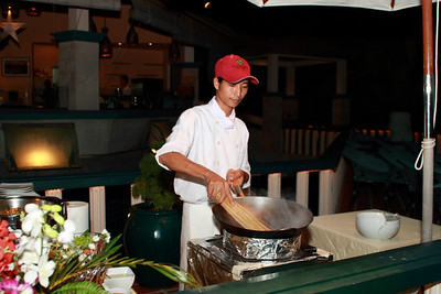 New Year 2009, party at The Mangosteen Resort & Spa, Phuket. Noodle buffet...