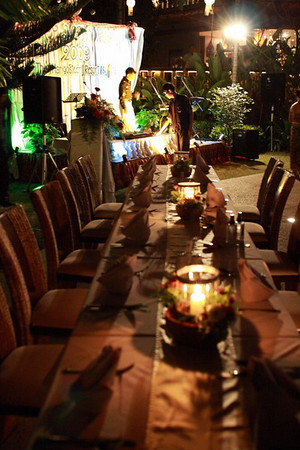 New Year 2009, party at The Mangosteen Resort & Spa, Phuket. The family table...