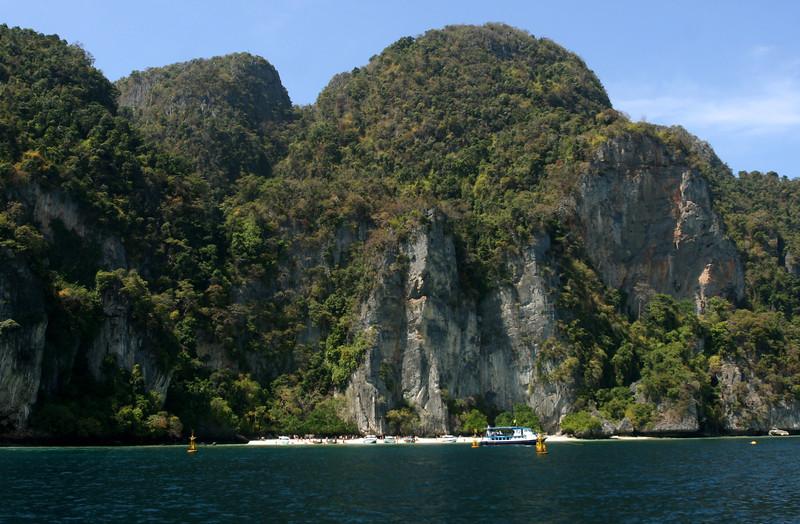 Phuket Thailand, Phi Phi Island's beautiful beaches and rocks - Yongkasem Bay