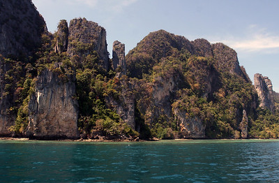 Phuket Thailand, Phi Phi Island's beautiful beaches and rocks - Tonsai Bay and fantastic views!