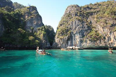 Phuket Thailand, Phi Phi Island's beautiful beaches and rocks - Pileh Lagoon
