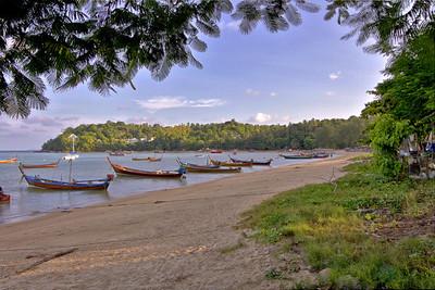 Rawai Beach Longtail Boats HDR