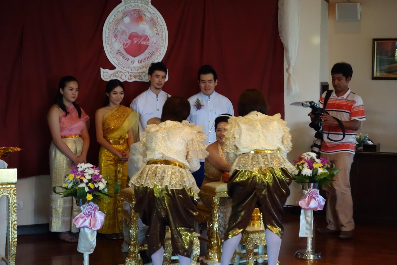 Phuket Wedding at Mangosteen Resort - Soutsada & Jean-Pierre's wedding ceremony on a beautiful fullmoon night.
