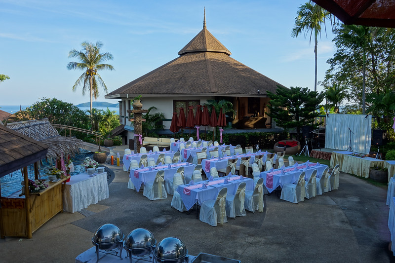 Phuket Wedding at Mangosteen Resort - Soutsada & Jean-Pierre's wedding ceremony on a beautiful fullmoon night.