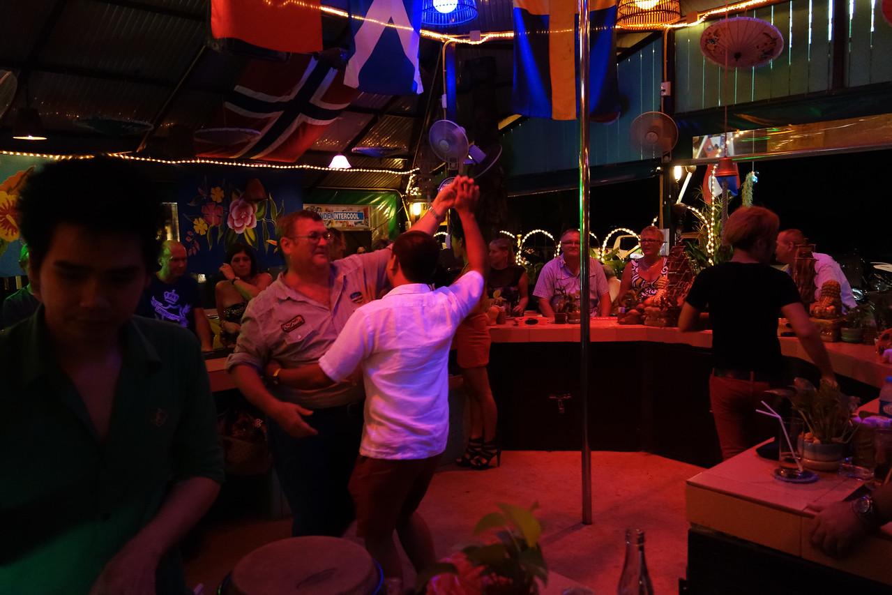Club Mangosteen Members celebrate in one of the local bars in Rawai Beach, Sunshine Bar Phuket. Great people, great fun evening! We will you all again soon. :)