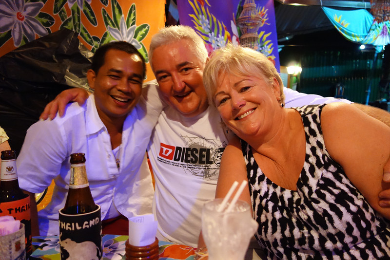 Club Mangosteen Members celebrate in one of the local bars in Rawai Beach, Sunshine Bar Phuket. Great people, great fun evening! We will you all again soon. :)