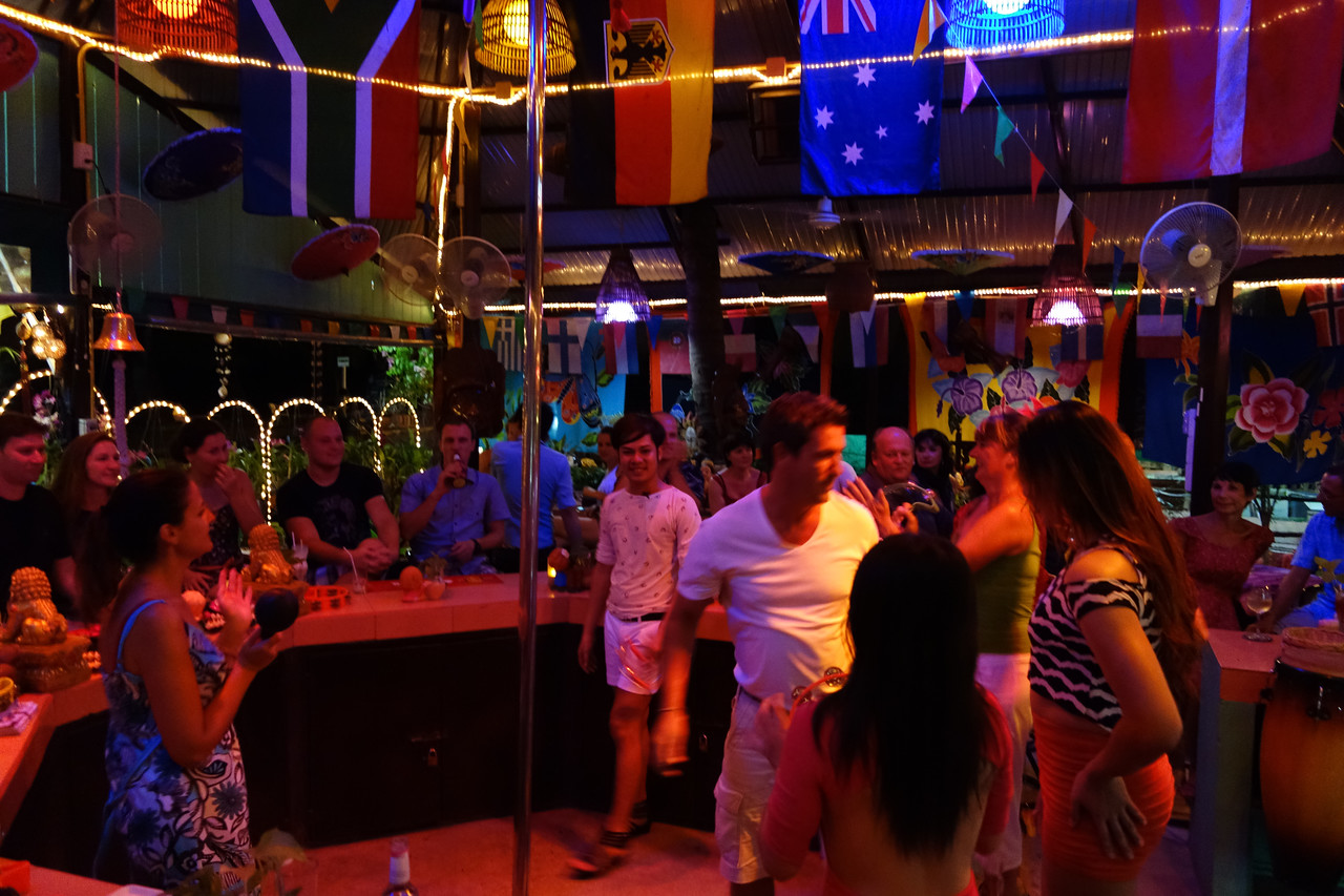Mangosteen Resort and Ayurveda Spa, Phuket, Thailand - taking over Sunshine Bar in Rawai