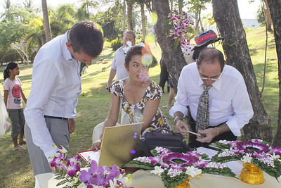 Sam and Esther Wedding at Golden Tulip Mangosteen Resort and Spa, 17.02.2010, Phuket, Thailand. The resort is an ideal loaction for a Wedding in Phuket. We provide Western or Thai style weddings with up to 80 guests.