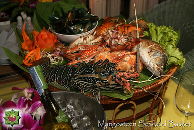 Seafood Basket with Phuket Lobster at Mangosteen Restaurant, Phuket