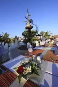 Table set up for Skal Phuket