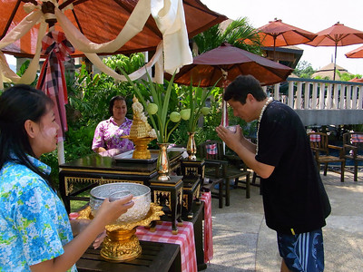Songkran 2010 Golden Tulip Mangosteen Resort and Spa, the team celebrates Thai New Year at the resort.