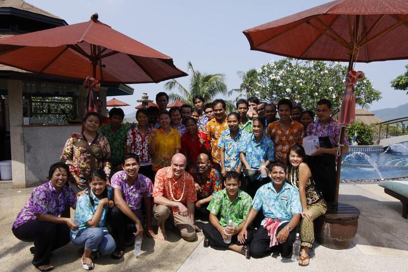 Songkran 2010 Golden Tulip Mangosteen Resort and Spa, the team celebrates Thai New Year at the resort.