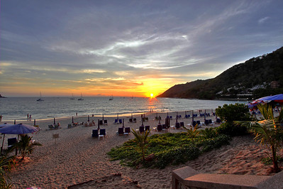 Phuket Nai Harn Beach Sunset
