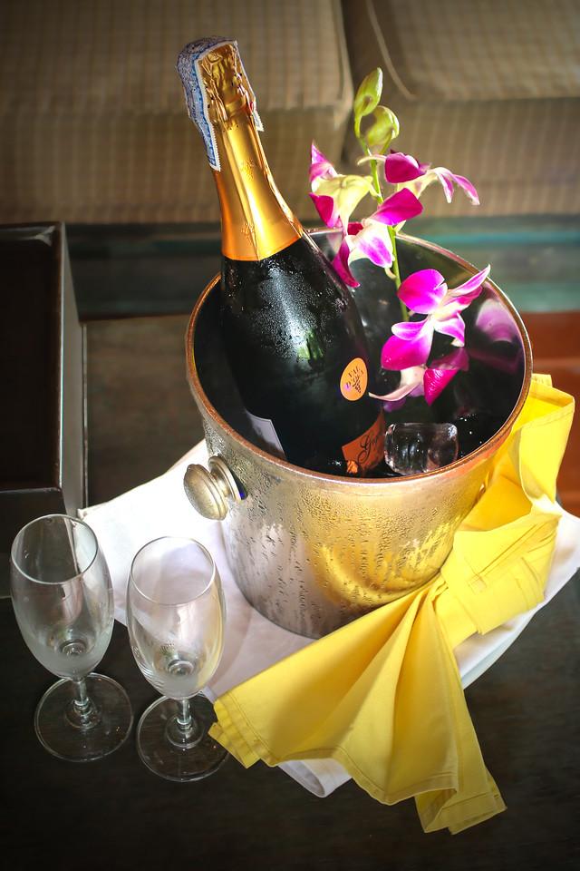 Bottle of Sparkling Wine on Arrival at Mangosteen Resort & Ayurveda Spa