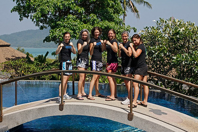 Thai Boxing Team at Mangosteen Resort & Ayurveda Spa