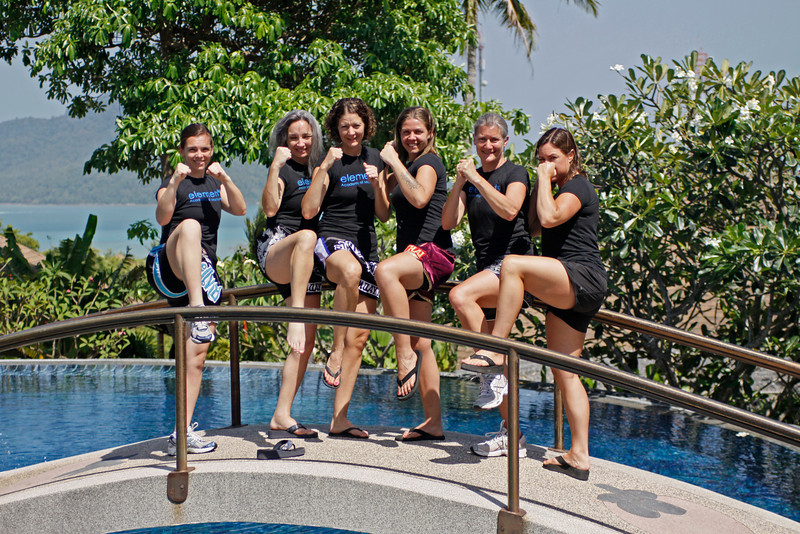 Thai Boxing Team at Mangosteen Resort & Ayurveda Spa