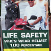 Public Safety poster, Patong Beach. Phuket. Thailand.