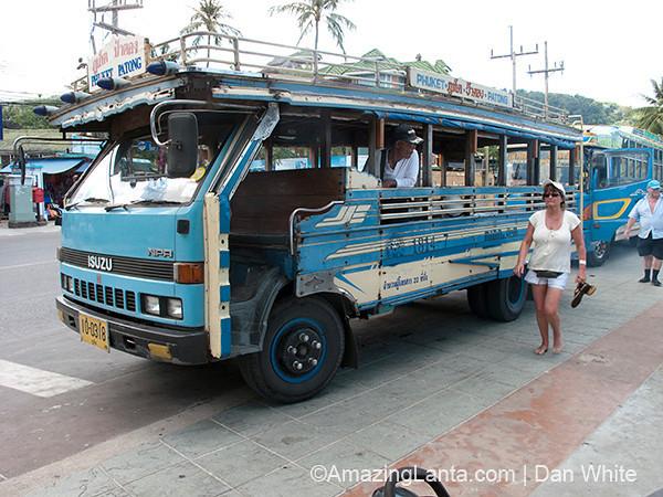Public Bus. Patong Beach. Phuket. Thailand.