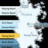 Patong Beach Phuket Location Map