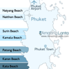 Naiharn Beach Phuket Location Map