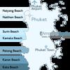Naiharn Beach Phuket Location Map