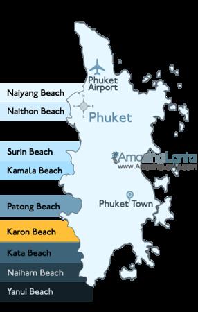 Karon Beach Phuket Location Map