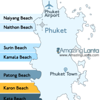 Karon Beach Phuket Location Map