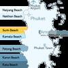 Surin Beach Phuket Location Map