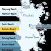 Kamala Beach Phuket Location Map