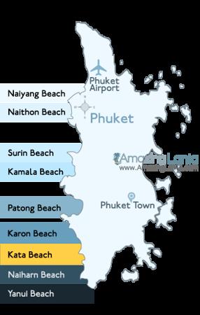 Kata Beach Phuket Location Map