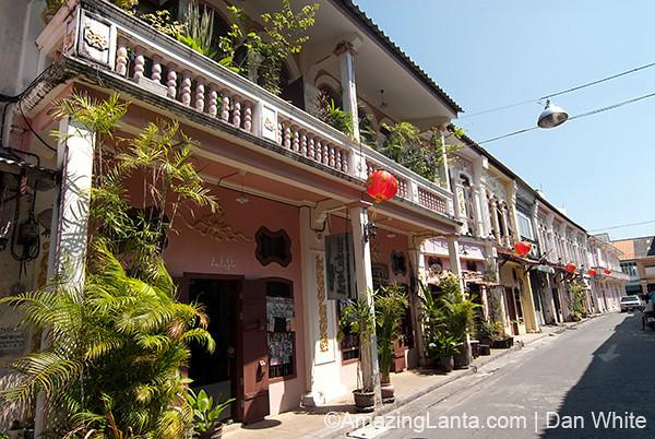 Sino-Portuguese architecture in Phuket. Thailand.