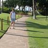 Boardwalk in front of hotel